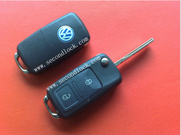 Flip Remote Car Key for VW with 2 Buttons Remote Car Starter 434mhz,1J0 959 753 AG Remote Key Fob(China (Mainland))