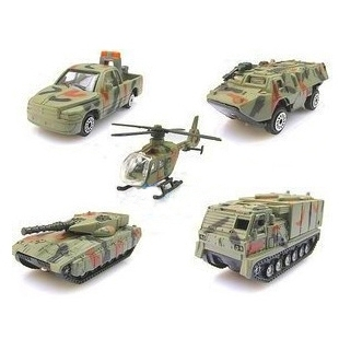 Mini Car Military Suit Helicopter Tank Armored Vehicle Model Toy, 5pcs(China (Mainland))