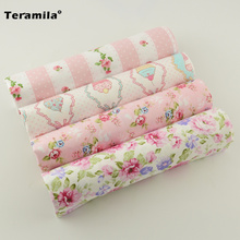 4 Pieces/lot Cotton Patchwork Twill Fabric Fat Quarter Materials Curtain Set Bedding teramila Child Table Deoration Cloth Sewing(China (Mainland))