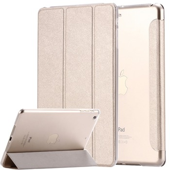 New Transparent Clear Silk Leather Case for ipad Mini 1 2 Retina 3 7.9 Luxury Stand Tablet Shell Smart Cover for apple ipad Mini