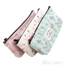 New Flower Floral Pencil Pen Case Cosmetic Makeup Tool Bag Storage Pouch Purse 05RP(China (Mainland))