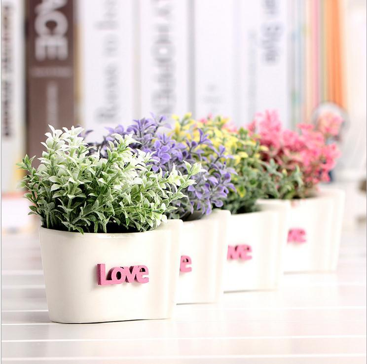 New wedding decorations decorative flowers ceramics vase for Artificial flowers for wedding decoration