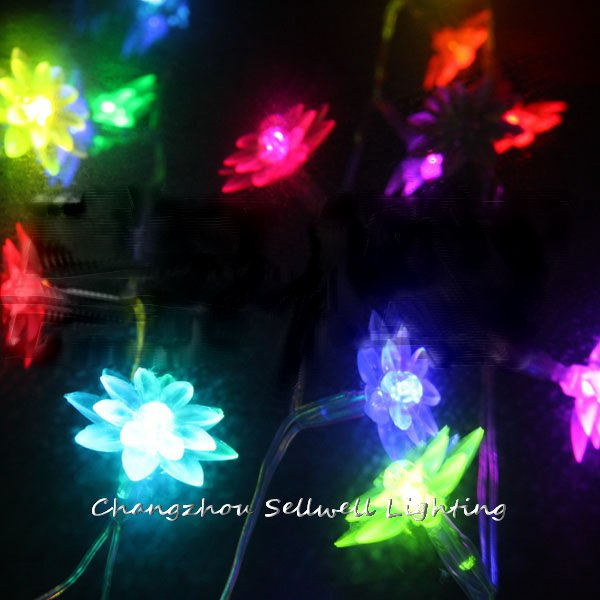 NEW!Coloured festival lighting wedding christmas tree 2.5m Lotus battery lamp H007(China (Mainland))