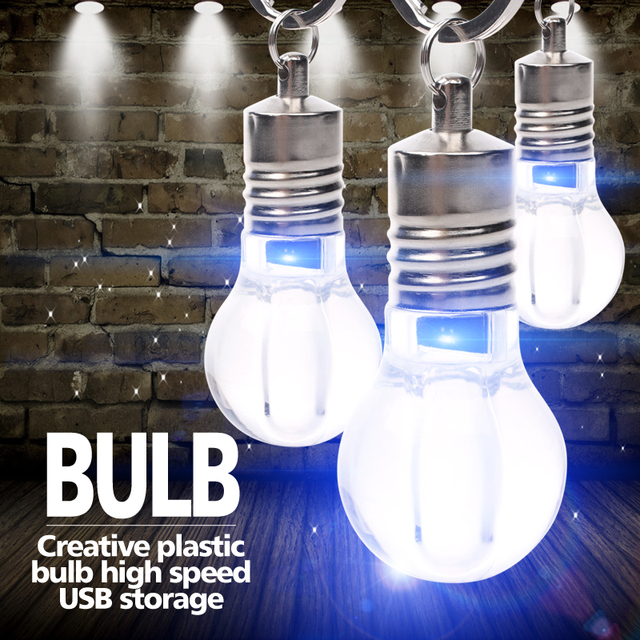 Light Bulb Shaped USB Flash Drive LED 4GB 8GB 16GB 32GB