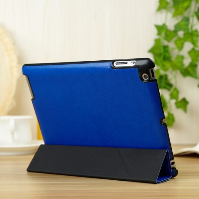 10pcs/lot PU leather case Folding stand smart case for Ipad 5 Magentic back cover case DHL fast shipping<br><br>Aliexpress
