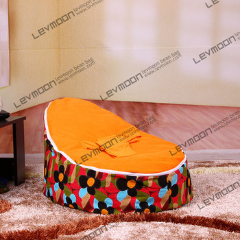FREE SHIPPING baby bean bag chair with 2pcs white up cover baby bean bag baby beanbags chair bean bag seat bean bag cover(China (Mainland))