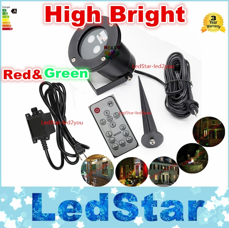 Laser light waterproof outdoor lawn Starry Christmas red and green dynamic remote control insert the courtyard garden landscape(China (Mainland))