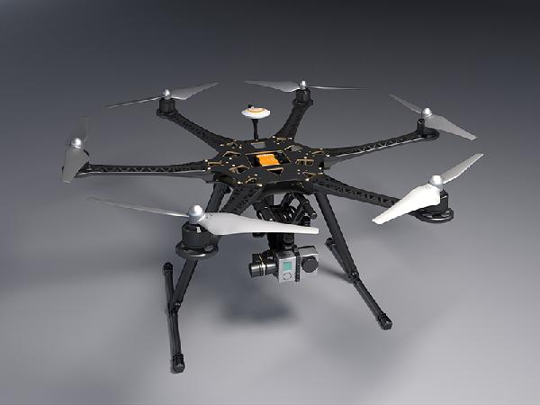 FPV S550 6 Axis Multi Rotor Air Hexacopter PCB Frame With Landing Gear For FPV
