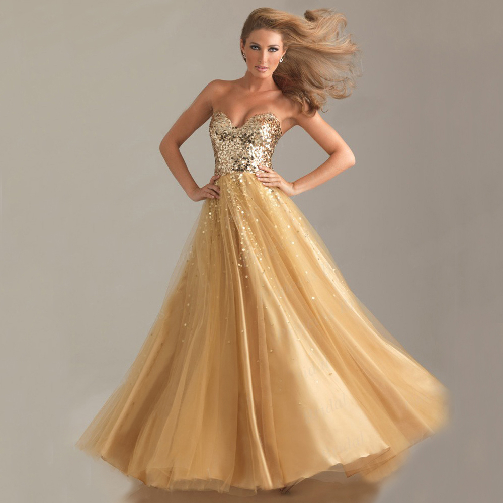Long gold sequin dress strapless a collection of dresses for you
