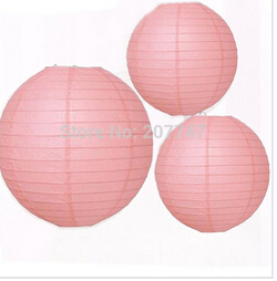 12 Mixed Size Pink Chinese Paper Lantern Lampshade for Wedding Engagement Baby Girls Room Decoration(China (Mainland))