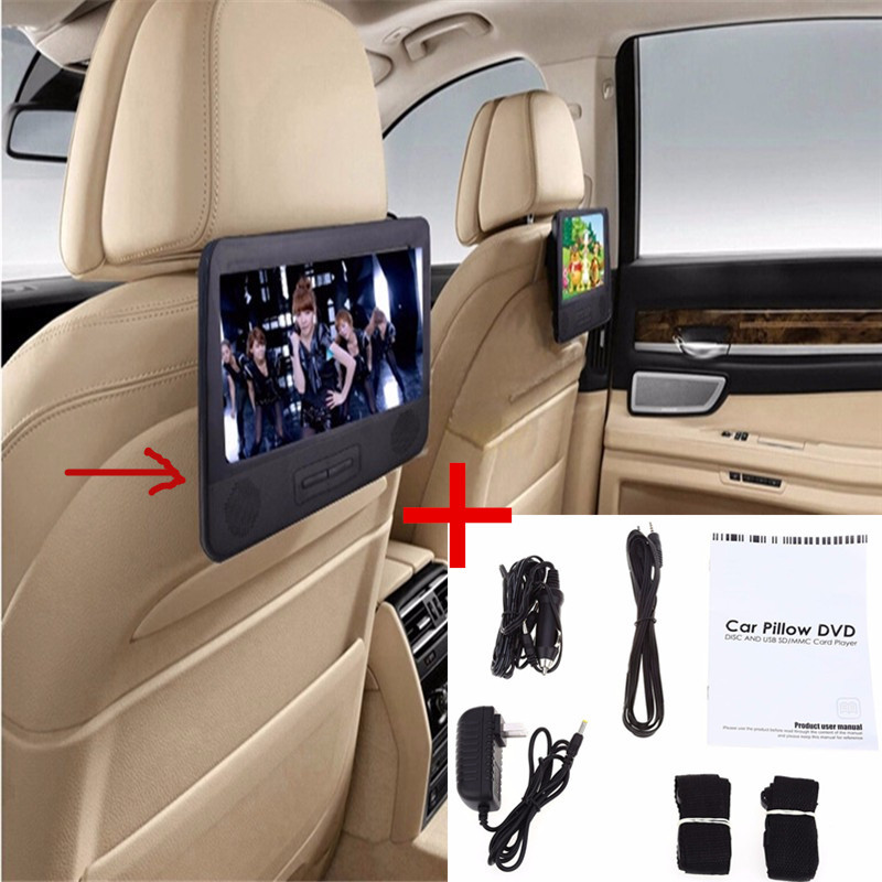 Car styling BLACK 7.8'' Car DVD PLAYER With 2 Screen USB & SD FM TV RADIO+Headrest Car DVD player With Dual Screen free shipping(China (Mainland))