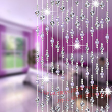 Crystal Curtains for Decoration Japanese Korea Style Glass Bead Curtains for Living Room Single Strand Crystal Bead Curtain(China (Mainland))