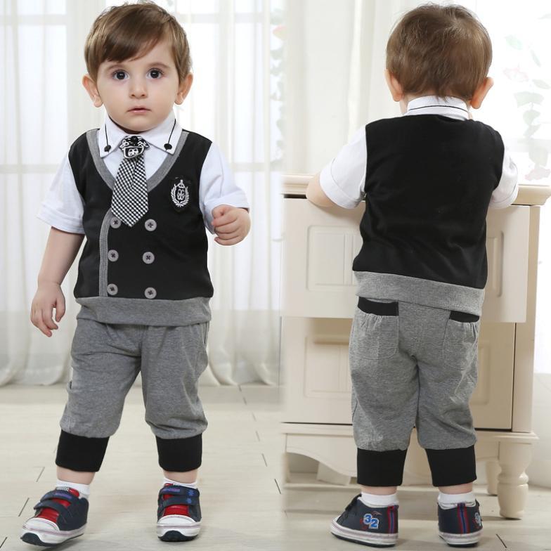 baby boy clothes branded items boys wedding clothing set black new born kids baby boy birthday dress high quality(China (Mainland))