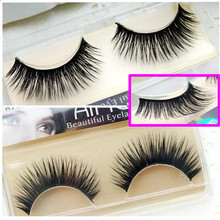 Hot 1 Pair Full Strip Fake Lashes LOR-10 Natural Long Thick False Eyelashes Hand Made High Quality Mink Lash Hair Eyelash Makeup(China (Mainland))