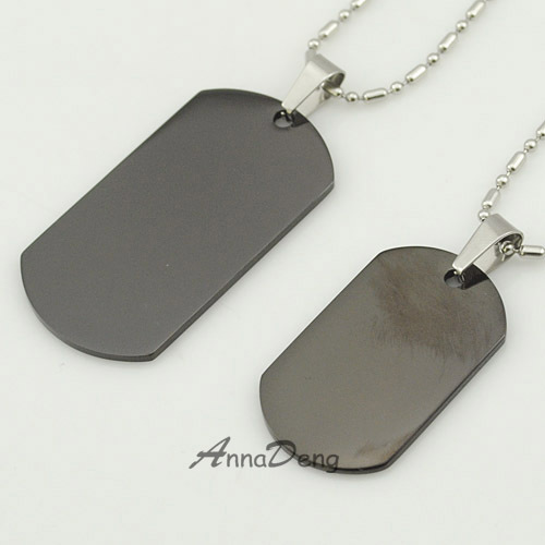 2015 Dog Tag Black 316 Stainless Steel Pendant Necklace metal stamping blanks tags military Soldiers rock KJP13 - AnnaDeng Jewelry store