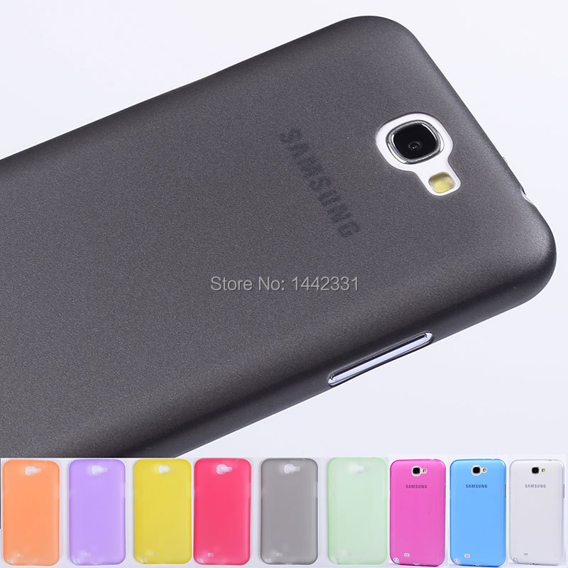 ultra thin slim soft plastic protector Case Cover skin For Samsung Galaxy Note 2 II N7100(China (Mainland))