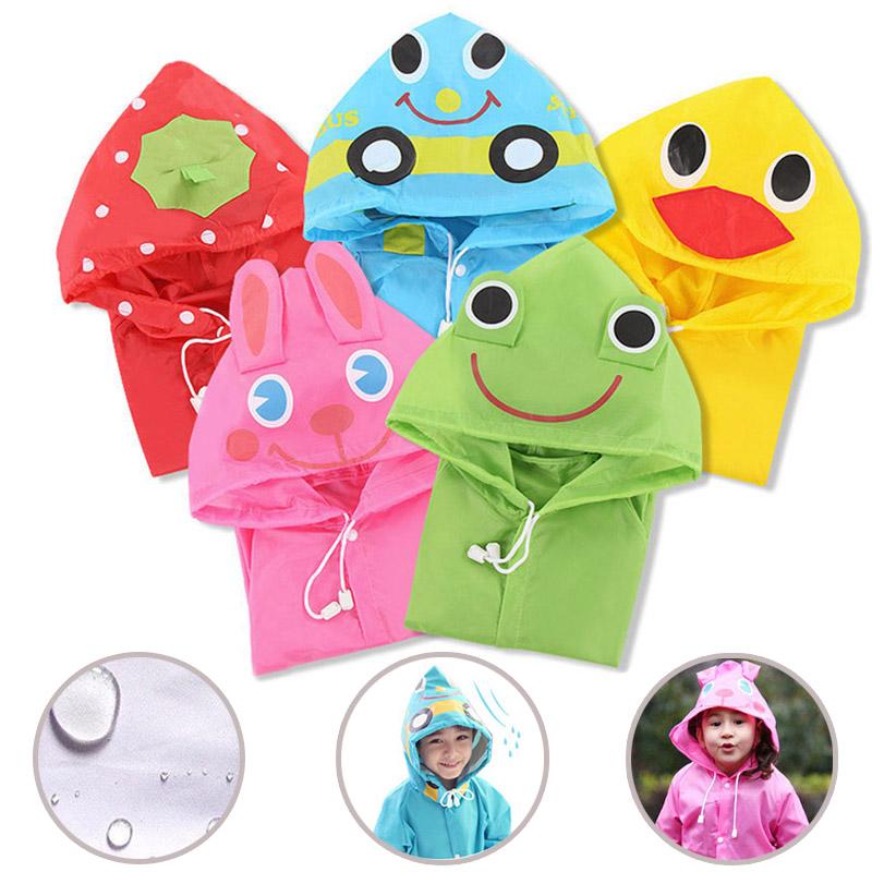Kids Rain Coat Animal Style Children Waterproof Raincoat Rainwear Unisex Cartoon Kids Raincoats TB Sale(China (Mainland))