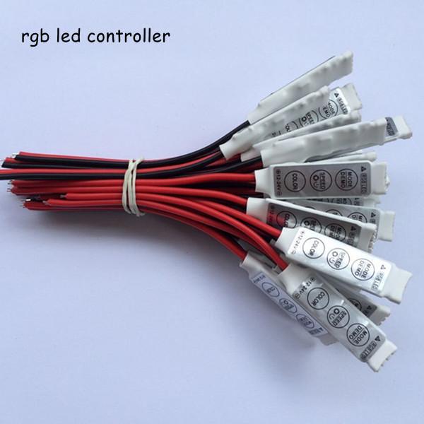 20pcs DC12V 24V 6A 3 way channel slim mini 3 keys rgb led controller to control led rgb strips smd 5050 3528 free shipping(China (Mainland))