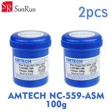2pcs AMTECH Paste NC-559-ASM 100g Leaded Soldering Flux Welding Paste BGA Reballing Solder Ball Repair Soldering Flux Paste(China (Mainland))