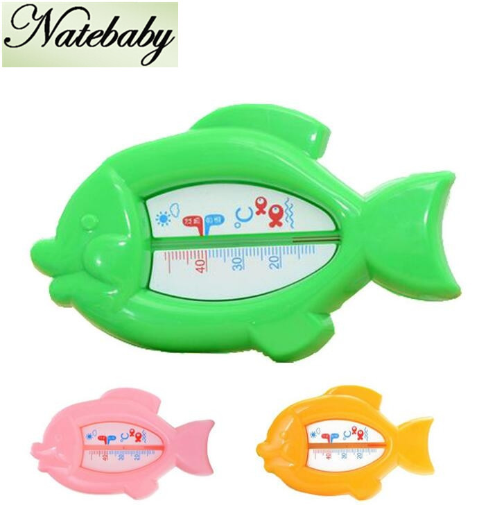 Factory Direct Sales Multi Color Fish Shape Water Meter Baby Bath Water Thermometer NA0141(China (Mainland))