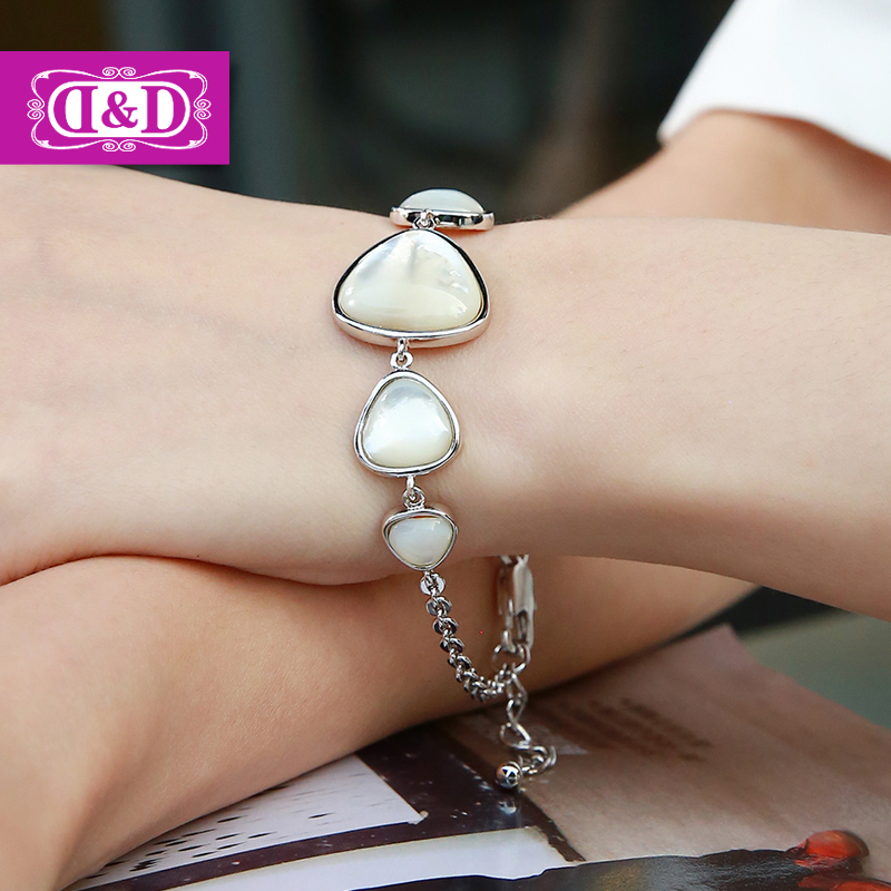 2015 popular female ornaments handmade pearl jewelry bracelets triangle Fritillaria(China (Mainland))