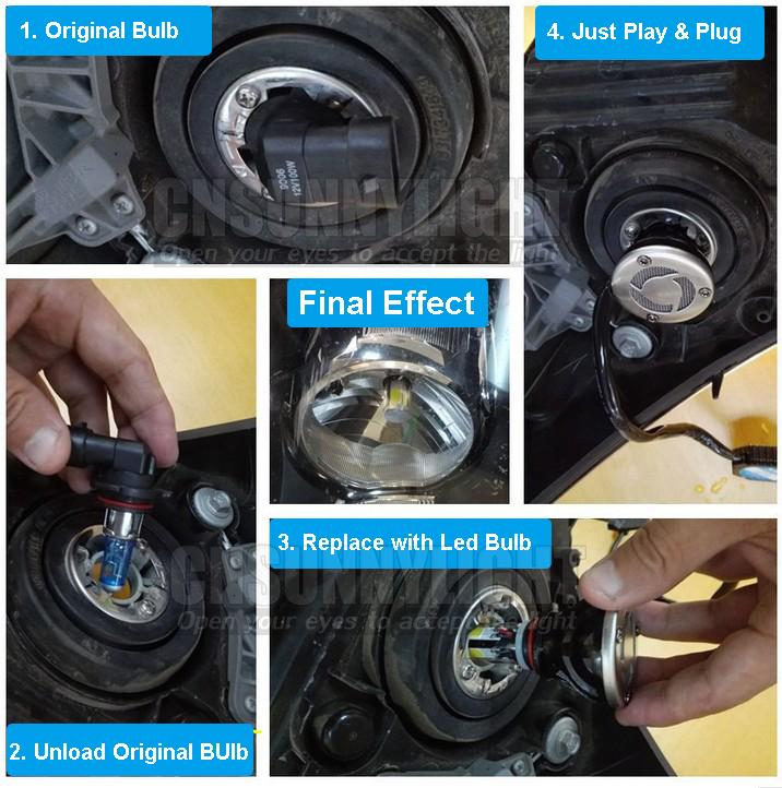 H4 H7 H13 H11 H1 9005 9006 COB LED Headlight 80W 8000LM Super Brigh Car LED Headlights Bulb Head Lamp Fog Light Pure White 6000K (24)