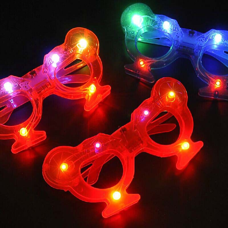 Cool LED Light Up Lighting Party Cup Glasses Glowing Flashing Eye Glassess(China (Mainland))