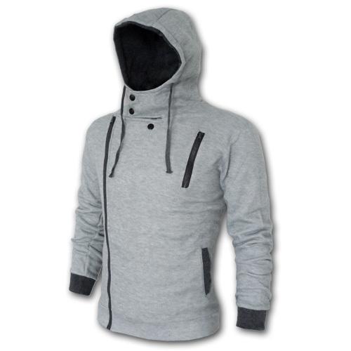 Drop Ship 2015 New Arrival Men's Winter&Autumn Hooded Jacket,Zipper Fashion Brand Men's Coats,Slim Fit ,Plus Size,6XL,DropShip(China (Mainland))