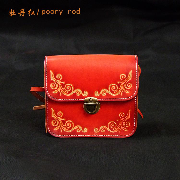 ОЛЬГ.Ят резьба ручной работы цветы из кожи растительного дубления кожаная сумка ретро кожа леди сумка сумка цилиндра