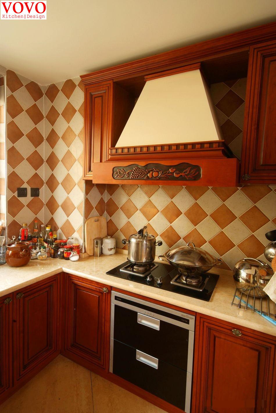 Chaise Cuisine Quebec : Solide armoires de cuisine rouge cerise couleur(China (Mainland))