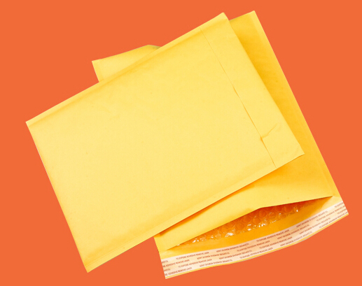 Free Shipping 100pcs/lot 18x23cm big bubble envelope poly mailer mailing bags packing material yellow gift bag(China (Mainland))