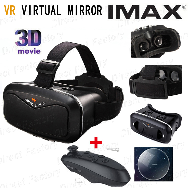 VR Shinecon Moke Virtual Reality 3D Glasses Headset Oculus Rift Head Mount 3D Movies Games Apps 2015 Google Cardboard 2.0<br><br>Aliexpress