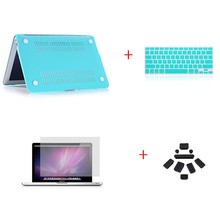 Matte Protective Hard Case Capa For Apple Macbook Pro 15.4 15 inch Keyboard Cover + dust plug+ Screen Protector(China (Mainland))