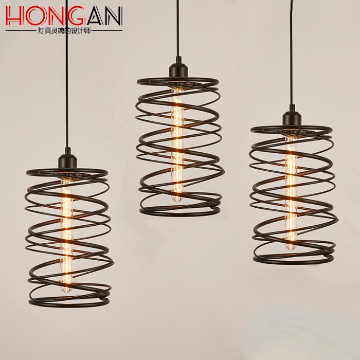 IKEA Nordic style Retro Modern chandelier Edison rotating restaurant bar iron lamp simple personality(China (Mainland))