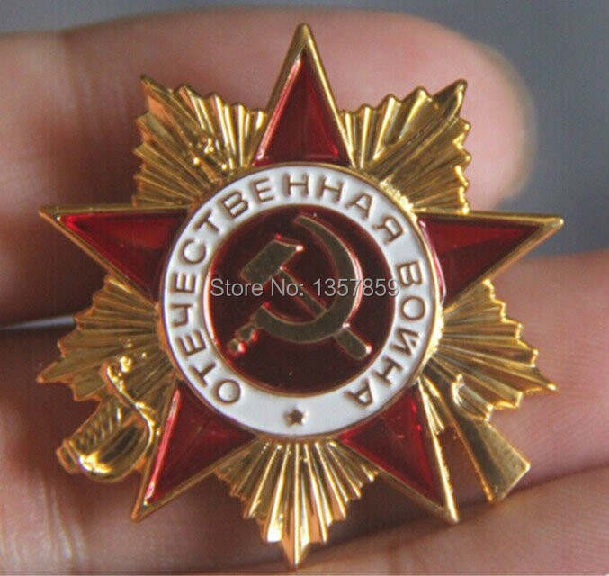 100 pcs/lot.The Soviet Red Army primary fist war of national defense Soviet Emblem Medal badge(China (Mainland))