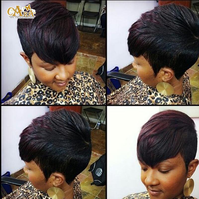 27 Pieces Short Hair Weaving For Black Women 3pcs/lot Short Hair Weave ...