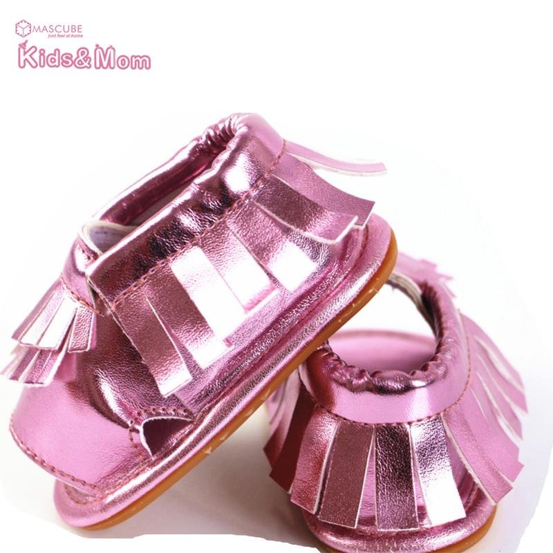 2016 Summer Rubber Sole Baby Shoes Tassel Design Summer Baby Shoes Leather Lovely Baby Girls Shoes chaussures filles(China (Mainland))