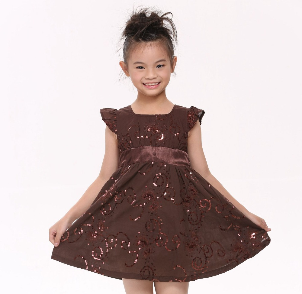FREE SHIPPING 3/8y kids wear new arrive baby girls princess dresses girls summer short sleeve dress with bow and beads H3776#<br><br>Aliexpress