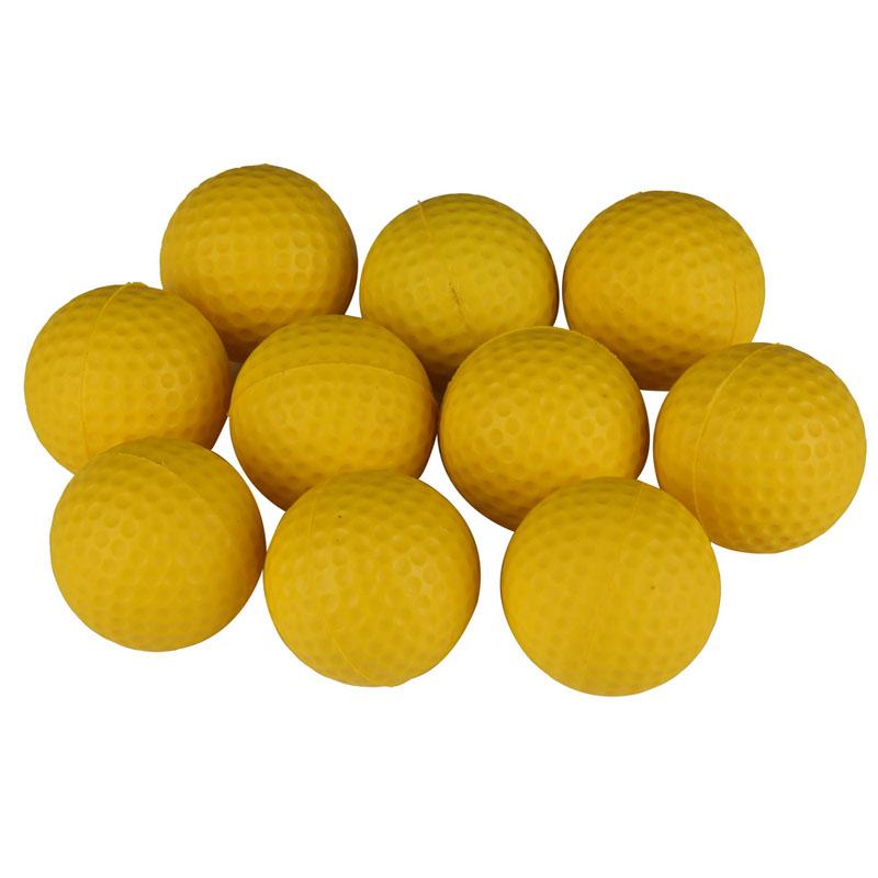 New Hot Sell 10PCS Yellow PU 40mm Diameter Golf Indoor Beginners Practicing Balls Soft Training Ball Free Shipping TL#(China (Mainland))