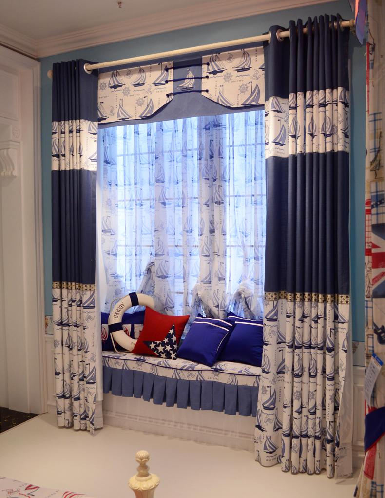 Achetez en gros gar ons chambre rideaux en ligne des for Rideau chambre garcon bleu