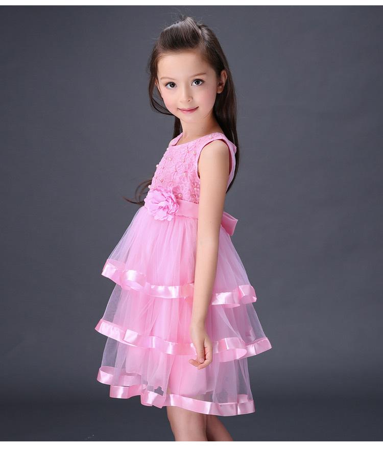 Скидки на Ребенка продажи 2016 новый летний платье девушки новая девушка дети фестиваль dance Шифон Торт оптовых доступны