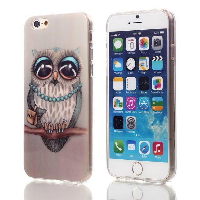 "Cute Owl Tower Flag Pattern Cartoon Soft TPU Silicone Case For Apple iphone 6 iphone6 4.7"" ShockProof Back Skin Protective Cover(China (Mainland))"