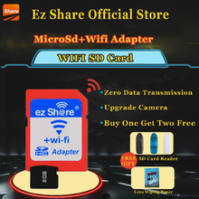 Buy Free ez Share Micro SD Adapter Wifi Wireless 8G 16G 32G Class 10 Memory Card TF MicroSD Adapter WiFi Cartao de memoria for $24.93 in AliExpress store