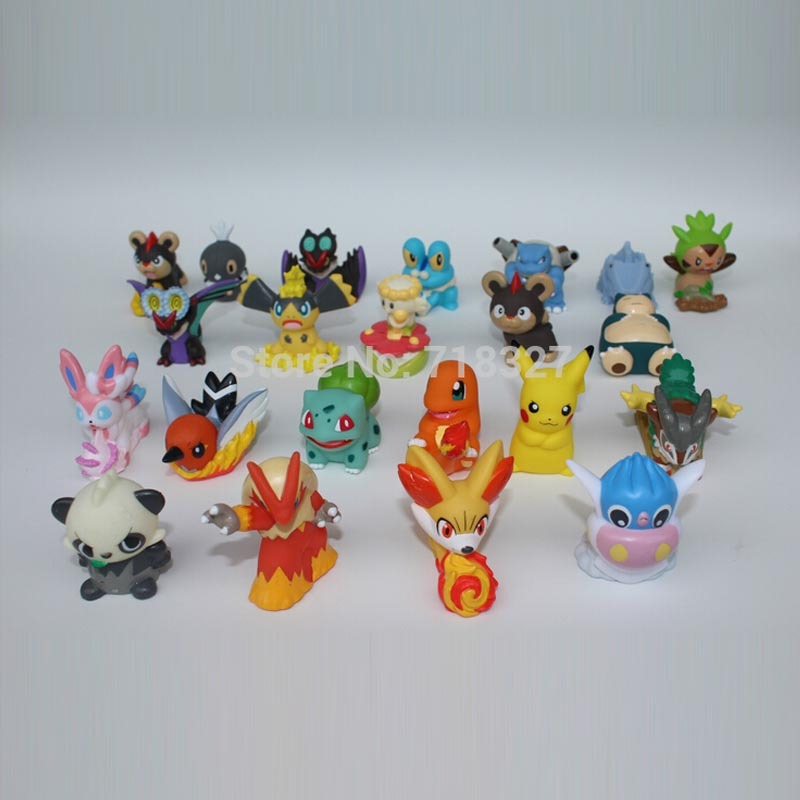 Japanese classic anime cartoon 20pcs/lot hollow pokemon 4-5.5cm finger puppet new style VINYL Action Figure Collect Holidaygifts(China (Mainland))