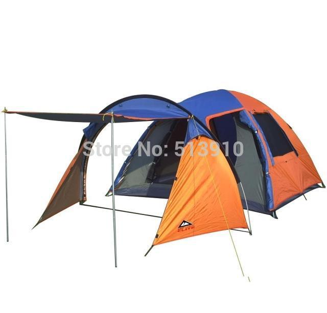 4-5Persons One extended hall One living room double layer outdoor camping family tent with windows<br><br>Aliexpress