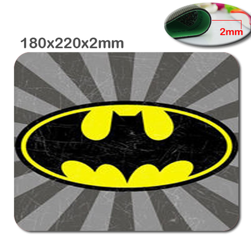Professional Custom print quickly batman by logo hot sale Gaming mouse pad gel mouse pad notebook mouse pad case 220*180*2(MM(China (Mainland))