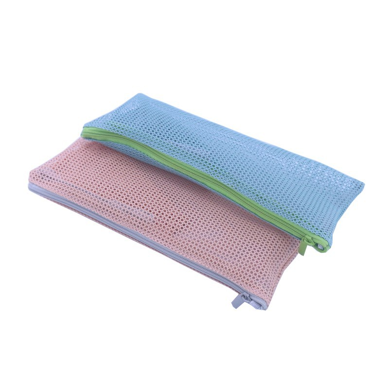 Travel Nylon Mesh Zipper Toiletry Cosmetic Makeup Bag Portable Storage Pouch Make Up Tool Organizer