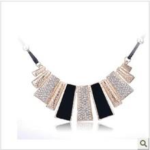 Min order 10$ K167 accessories rhinestone necklace bohemia design female short chain fashion(China (Mainland))