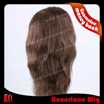 Акционерное выкл черный цвет естественная волна полные парики шнурка с челкой для женщин с быстрой перевозкой груза