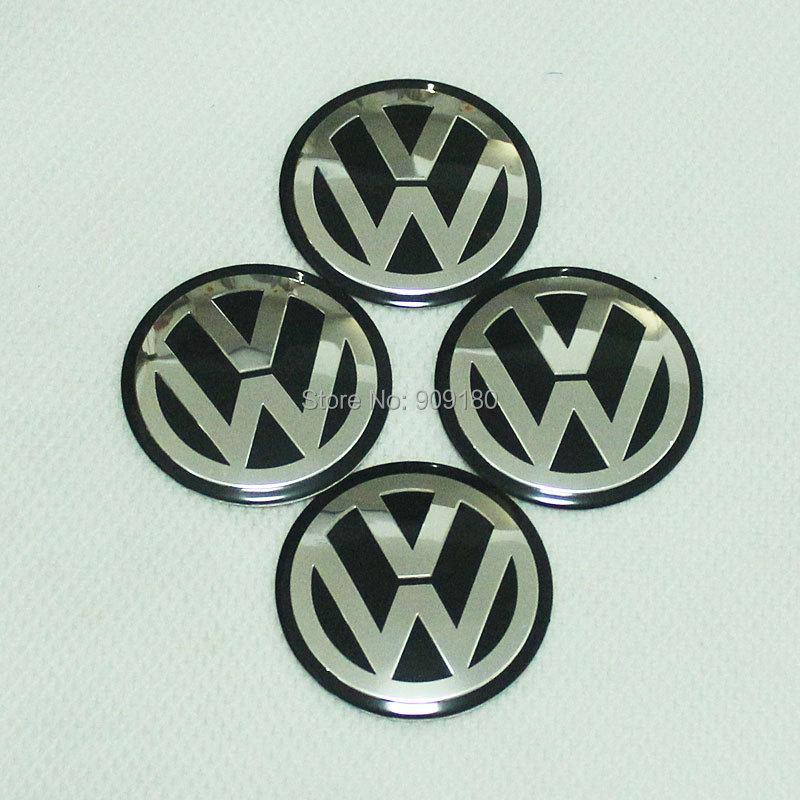 4 X 65mm Black Emblem Wheel Center Hub Caps Badge Sticker VW VOLKSWAGEN GOLF Gift #73 - Yu Xiang Co., Ltd. store